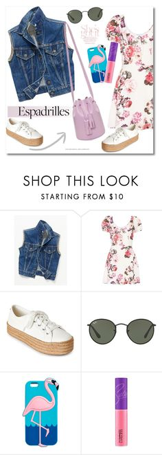"""""""Get the look Espadrilles"""" by vkmd ❤ liked on Polyvore featuring Free People, LPA, Steve Madden, Ray-Ban, MAC Cosmetics, Building Block and espadrilles"""