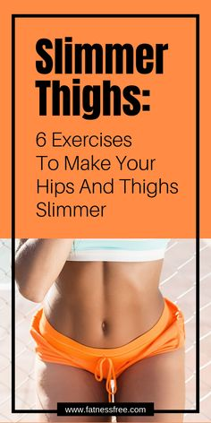 Looking for the perfect exercises for slim hips and thighs? Check out this incredible routine for slim thighs – fast and easy! Slim Hips, Fat Burning Tips, Thigh Exercises, Hip Workout, Workout For Beginners, Asana, Get In Shape, Pilates, Cardio