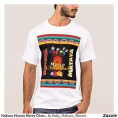 Color de las vacaciones de las Felices Navidad de  #Camisetas #Hakuna #Matata #tee shirt