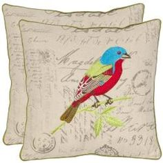 @Overstock - Recreating the vintage look of handcrafted artisan pillows, Loki features a striking multi-colored satin-embroidered tropical bird in its natural setting. http://www.overstock.com/Home-Garden/Bird-18-inch-Cream-Decorative-Pillows-Set-of-2/7110192/product.html?CID=214117 $52.99