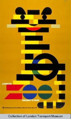 London Zoo, by Abram Games, 1976. Collection of The London Transport Museum.