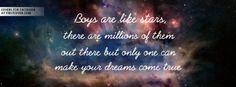 Boys Are Like Stars Profile Facebook Covers