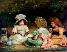 Afternoon tea - Sir John Everett Millais
