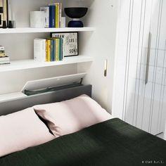 18 fantastiche immagini su Letto senza comodini | Home bedroom ...