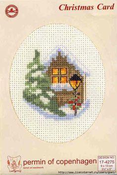 Mini Xmas X-stitch Cross Stitch Christmas Cards, Xmas Cross Stitch, Cross Stitch Cards, Cross Stitch Kits, Christmas Cross, Cross Stitch Designs, Cross Stitching, Cross Stitch Patterns, Loom Patterns