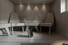 Sauna Lights, Modern Saunas, Sauna Design, Finnish Sauna, Spa Rooms, Modern Bathroom Decor, Luxury Spa, Amazing Bathrooms, Dining Bench