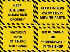 """Plastic Laminated Safety Sign - """"Put Tools Back in Their Proper Place"""""""