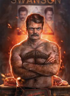 Ron Swanson - Parks and Recreation | The Most Amazing Pop Culture Art You Will Ever See