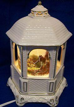 "Thomas Kinkade 2005 ""Make A Wish Cottage"" Gazebo Lamp Music Box | eBay"