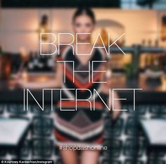 'Break the internet': Kourtney and Khloe Kardashian led the celebrations on Thursday as th...