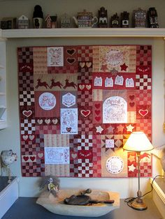 "Red Brolly ""Christmas Wish"" Quilt-She is giving out free instructions for this quilt.  Go to her site."
