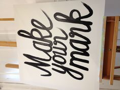 """Make your mark mini wedding sign for guests on illustration """"guest book"""" @Emily Schoenfeld Lauren got a little more sign makin in ya?"""