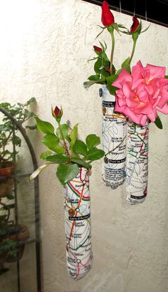 fabric covered vases by Jane LaFazio