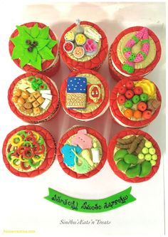 Indian Baby Shower Decoration Ideas New Seemantham Cupcakes Traditional Indian Baby Shower Baby Shower Cupcakes For Boy, Baby Shower Plates, Cupcakes For Boys, Baby Shower Decorations For Boys, Baby Shower Party Favors, Shower Cake, Wedding Decorations, Wedding Ideas, Wedding Couples