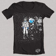 "Camiseta negra ""ASTRONAUTA 1"""