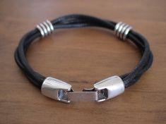 Simple Multi Strand Leather Bracelet - Gift for Men