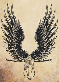 Dont like the concept of the fallen angel, but i love these wings minus the upside down crosses. Angel Wings Art, Angel Art, Wings Drawing, Angel Drawing, Alas Tattoo, Art Sketches, Art Drawings, Wing Tattoo Designs, Fantasy Illustration