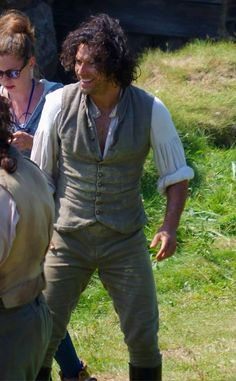 Continuing with the wild hair don't care theme, of a photo by Colin Antrobus, of a wind swept Aidan while Poldark were filming on location at Wheal Owles, or Wheal Leisure at they renamed it, in Cornwall.