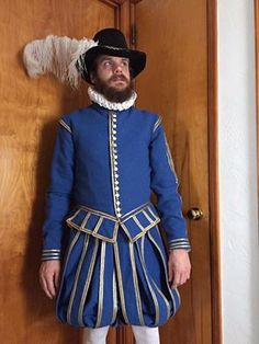 Michael L. Historical Costume, Historical Clothing, Fantasy Costumes, Male Costumes, Renaissance Men, Medieval Costume, High Neck Dress, Cosplay, Jacobean