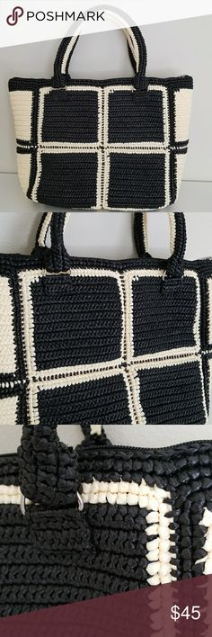 Handmade Rope Tote Bag Handmade rope tote bag. It is a perfect tote beach bag! It is sturdy and one of a kind. Bags Totes
