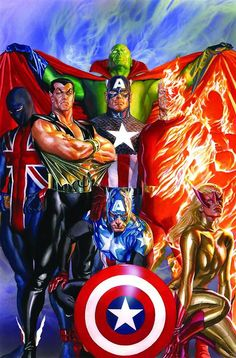 The Invaders by Alex Ross - Universo Marvel Comic Book Artists, Comic Book Characters, Comic Book Heroes, Marvel Characters, Comic Artist, Comic Character, Comic Books Art, Marvel Avengers, Ms Marvel