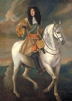 Equestrian portrait of King Charles II by Peter Lely