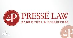 Presse Law -Barristers & Solicitors  Custom logo and website design. www.presselaw.com North Face Logo, The North Face, Lawyer Logo, Lawyers, Custom Logos, Badge, Website, Coffee, Design