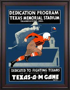 Vintage TU V. A&M; poster- would love to have a trio of vintage A&M; posters