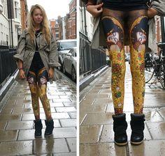 Klimt's kiss on my legs xx (by Sasha Fashion) http://lookbook.nu/look/3918366-Klimt-s-kiss-on-my-legs-xx