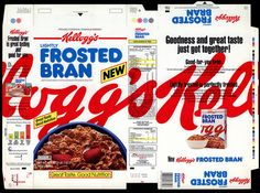 Kellogg's - Lightly Frosted Bran - NEW - cereal box - 1992 by JasonLiebig, via Flickr
