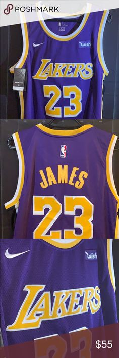 b95ce44bf 🏀Nike LeBron James Lakers (statement)edition 👑 100% authentic brand new  with tags Size  medium Los Angeles Lakers statement swingman Jersey The king  is ...