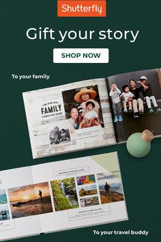 Want to give something extra special to friends and family this holiday? Share a story only you could tell in a photo book. It'll make them smile ear to ear and fill them full of holiday cheer. Shutterfly Photo Book, Top Gifts For Kids, Personalised Photo Cards, Family Memories, Holiday Cards, Holiday Gifts, Cool Gifts, Fill, Animales