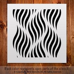 Allover-Muster-Schablone für DIY. Kleinen von StencilsLabNY auf Etsy