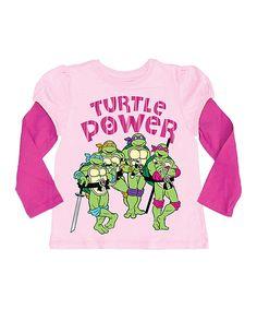 Love this Pink TMNT 'Turtle Power' Layered Tee - Girls by Teenage Mutant Ninja Turtles on #zulily! #zulilyfinds