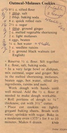 Dishpan Cookies...my grandma's speciality