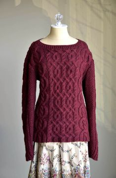 Cabled sweater knitting pattern - download FREE from LoveKnitting!