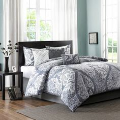 Madison Park Marcella 7-pc. Comforter Set this with pink sheets, and pink bed skirt.