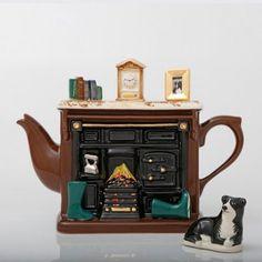 Ceramic Handmade Teapot- Fireplace