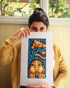 Cat contrast #catlovers #art #myartstyle #color