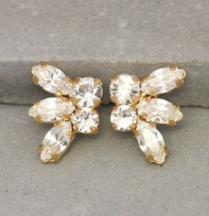 Check out this item in my Etsy shop https://www.etsy.com/il-en/listing/231919834/bridal-crystal-stud-earrings-swarovski