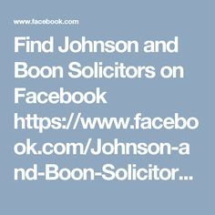 Find Johnson and Boon Solicitors on Facebook https://www.facebook.com/Johnson-and-Boon-Solicitors-1756777761262738/ Johnson and Boon Solicitors are highly recommended Wirral solicitors offering a comprehensive range of legal services including Divorce Law, Bankruptcy & Insolvency, Business Law, Civil Disputes, Employment Law, Family Law, Landlord and Tenant Claims and Alcohol Licensing.  Johnson and Boon Solicitors  66 Wallasey Road Wallasey Wirral CH44 2AE  0151 637 2034…