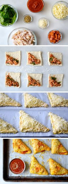 Cheesy Chicken Pizza Pockets. Interesting.