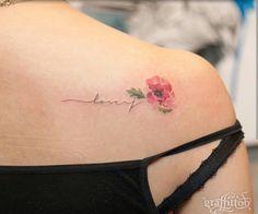 Flower tattoo & written