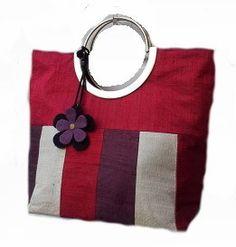 Silk stripe handbag, £25.50