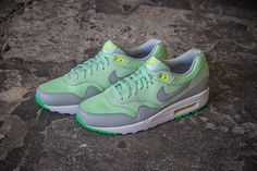 NIKE AIR MAX 1 ESSENTIAL (VAPOR GREEN/GREY MIST) | Sneaker Freaker