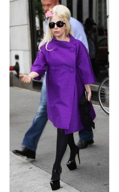 Lady Gaga in Christian Dior (Coat) and Brian Atwood (Shoes), from Vogue's Ten Best Dressed — Printed Matter