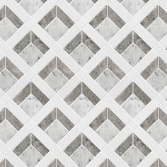Lindwood Tile from our Progressive Collection made with beautiful Carrara, Tundra Grey and White Thassos Brick Patterns, Floor Patterns, Textures Patterns, Floor Design, Tile Design, Herringbone Marble Floor, Paving Pattern, Marble Mosaic, Diy Carpet