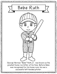 Wax museum museums and wax on pinterest for Babe ruth coloring pages