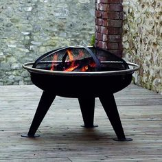 Hotspot - Urban 650 Fire Pit Brazier (With Cooking Grill & Spark Guard) Steel Fire Pit, Wood Burning Fire Pit, Fire Pits, Mad About The House, Fire Bowls, Cooking On The Grill, Urban, Autumn Garden, Summer Garden