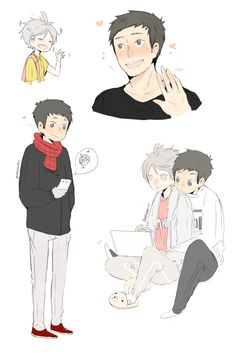 Daichi x Sugawara - some doodles_(┐「ε:)_♡